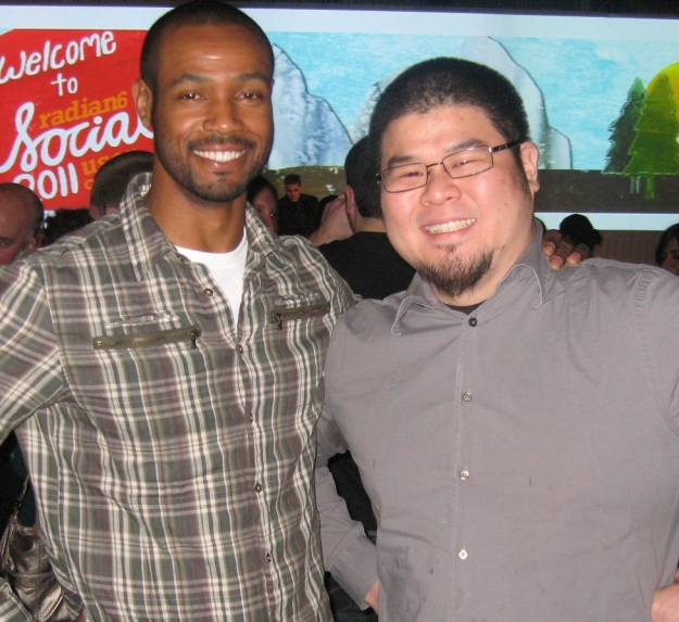Eric and Isaiah Mustafa - The Old Spice Guy.